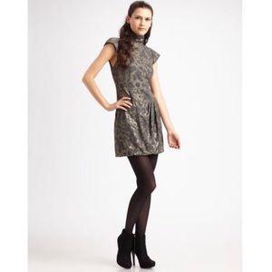 Nanette Lepore brocade foiled again dress